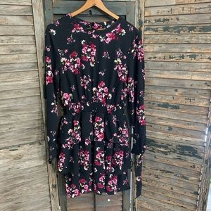 H&M floral dress with elastic waist